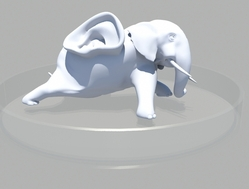 背上长了只人耳的大象